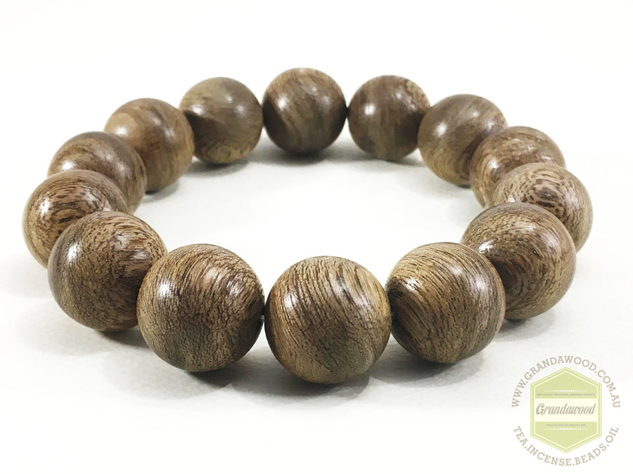 Beads *New*GLORY OF THE PAIN  Indonesia East Kalimantan Wild Agarwood Bracelet 16mm 24g