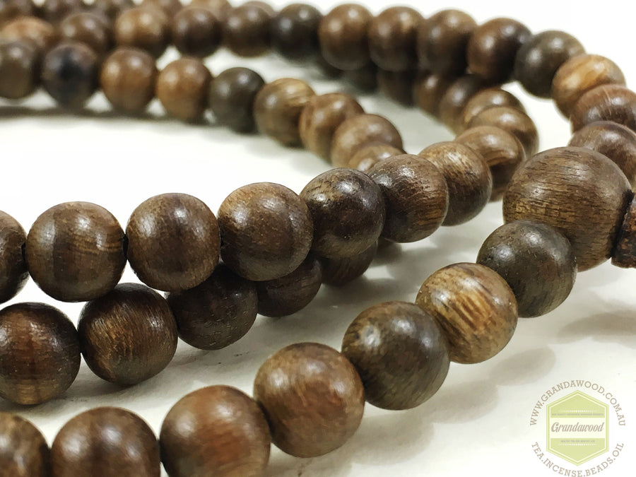 Beads *New* The Elegance: Wild Agarwood 108 mala 6mm 11g