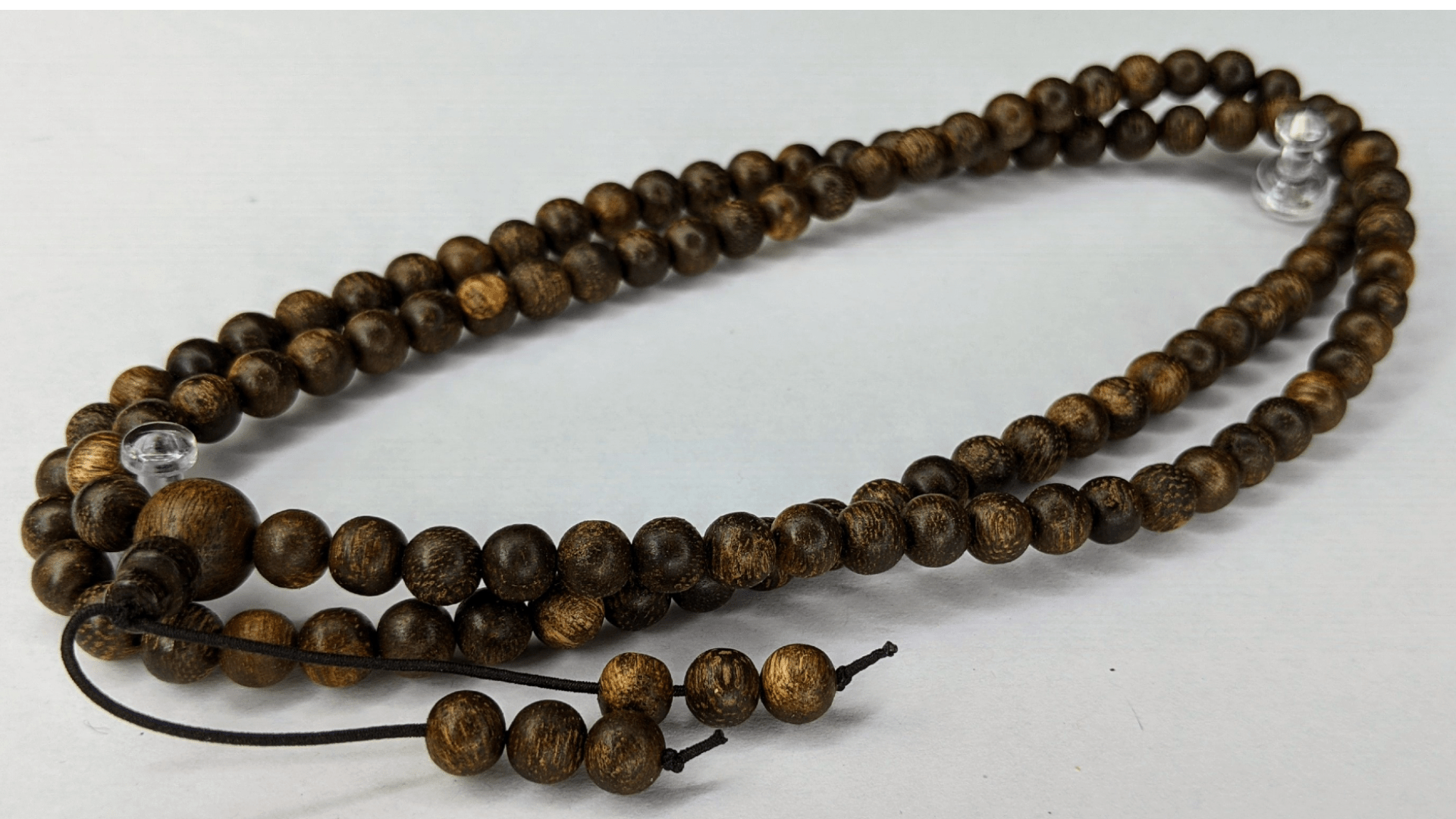 Beads *New* The Ethereal number 2 - Wild Agarwood 108 mala from Berau East Borneo 6mm 13g