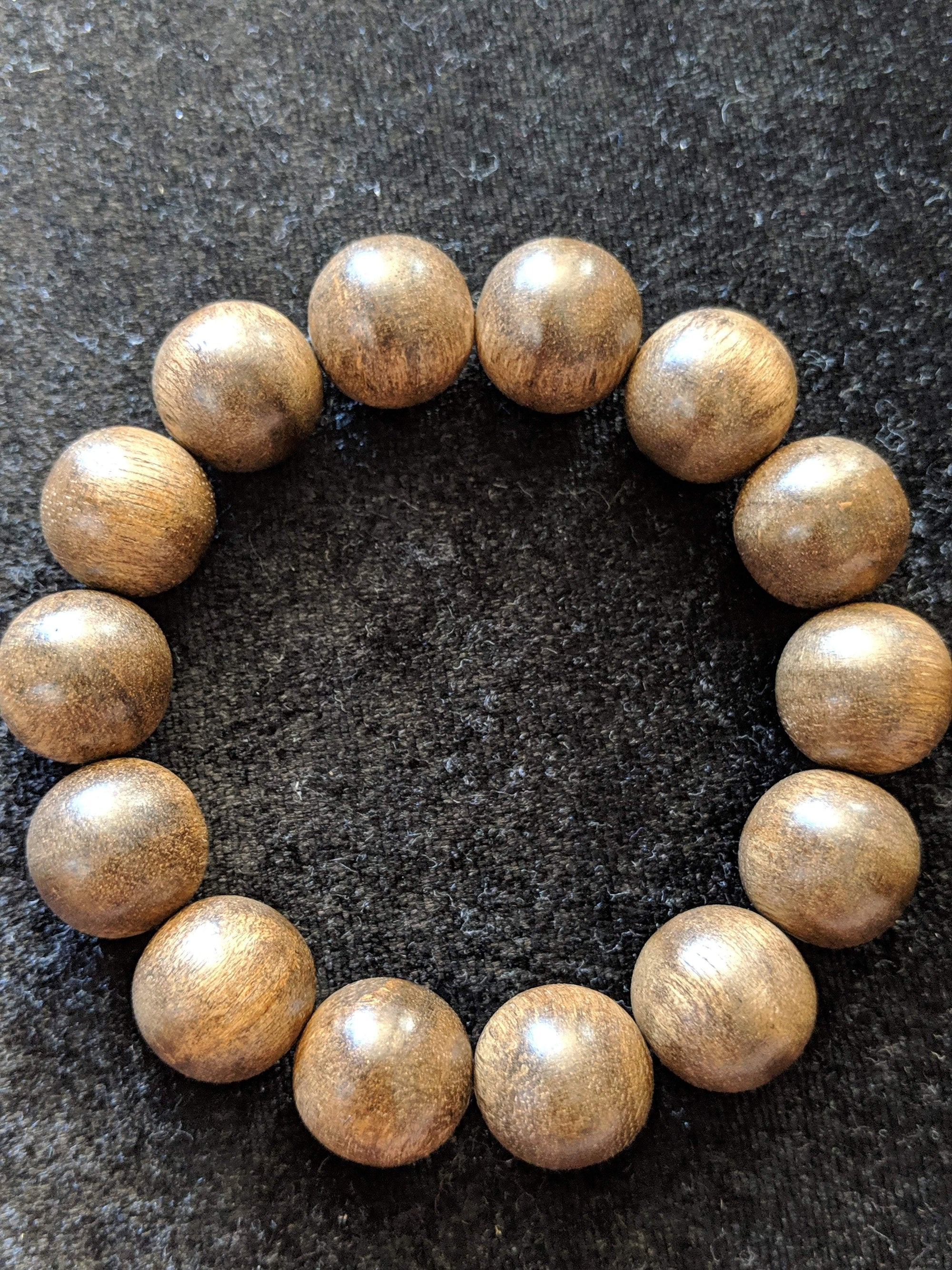 Beads *New* The Little Borneo Wild Agarwood 19g,14 beads 16mm