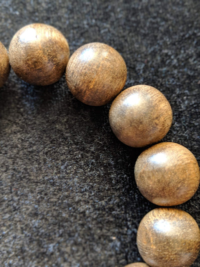 *New* The Little Borneo Wild Agarwood Bracelet 19g,14 beads 16mm - Grandawood- Agarwood Australia