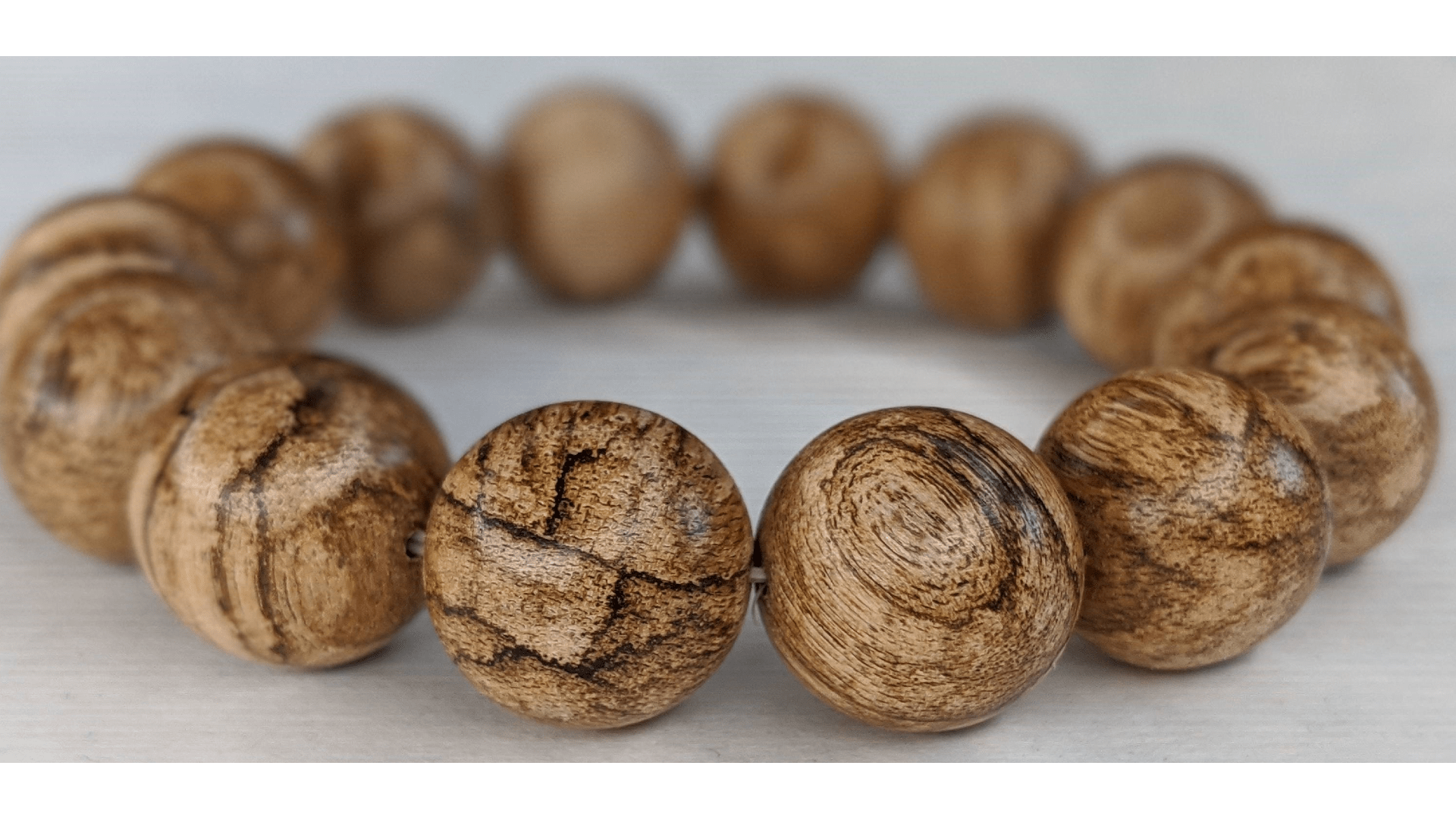 Beads *New* The Tiger King - Wild Agarwood Bracelet 20g 16mm from Malinau