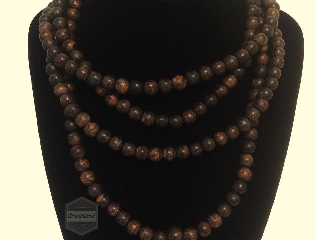 SOLD- Agarwood Mala Prayer Beads necklace- Nocturnal Scent - Grandawood- Agarwood Australia