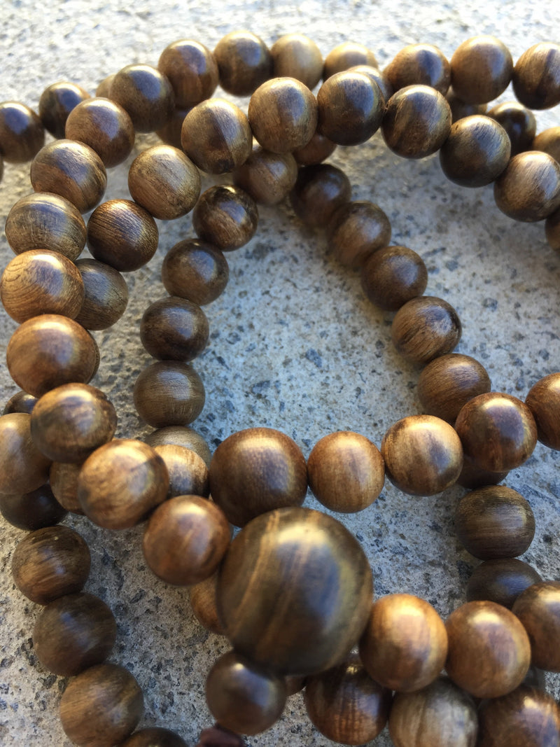 Beads SOLD- Custom-made 108 mala Wild agarwood 27g dimension 8mm