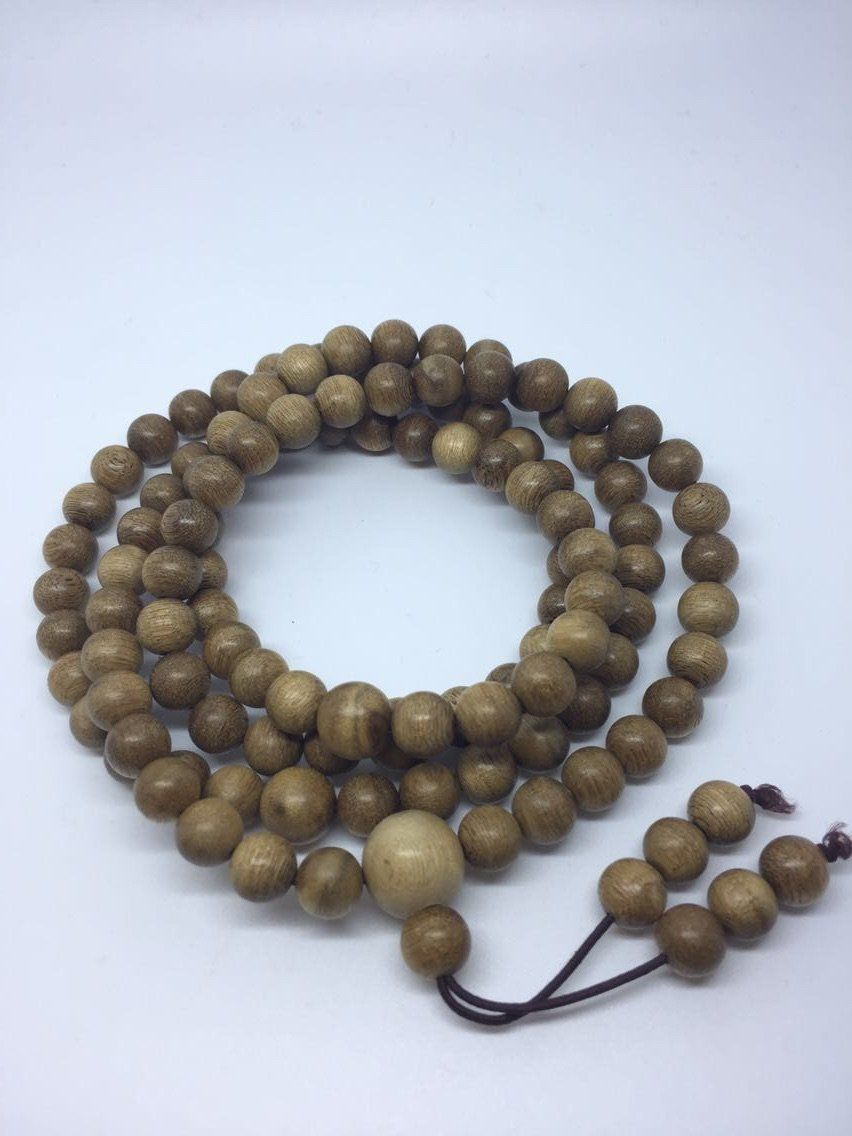SOLD- The Radiant Wild Agarwood (gaharu) 108 mala necklace - Grandawood- Agarwood Australia