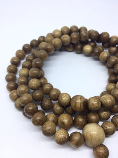 Beads SOLD- The Radiant Wild Agarwood (gaharu) 108 mala necklace
