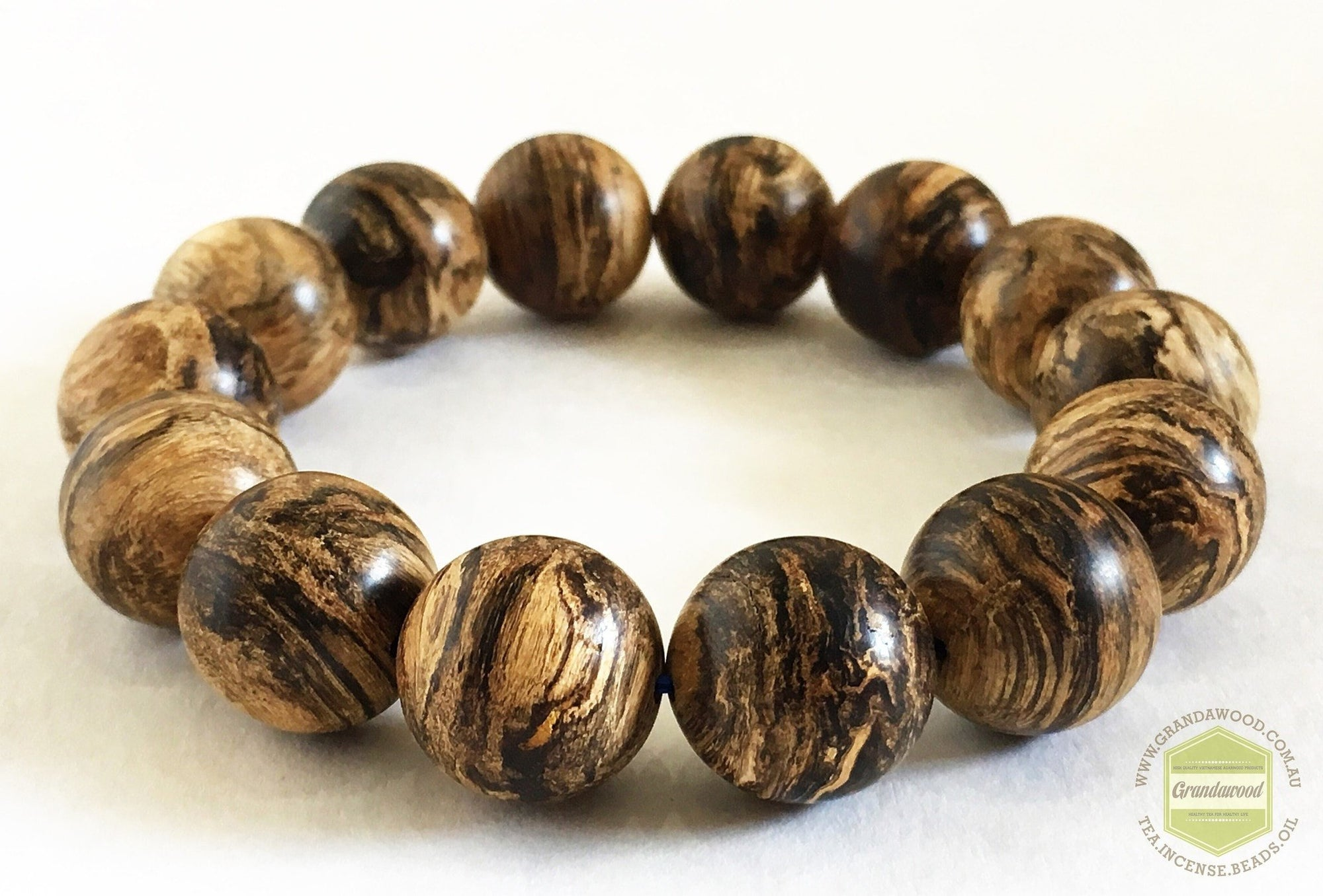 Beads SOLD-The Windy Storm Wild Sinking Agarwood Bracelet- 16mm