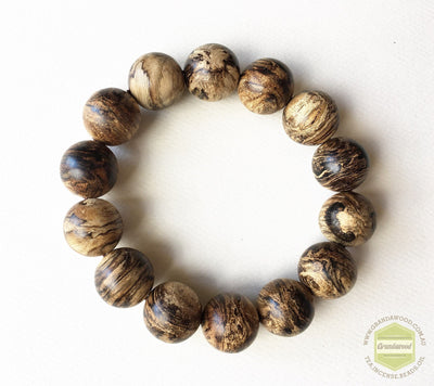 SOLD-The Windy Storm Wild Sinking Agarwood Bracelet- 16mm - Grandawood- Agarwood Australia