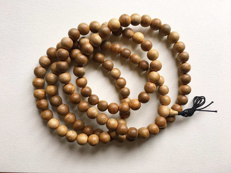 Beads SOLD- Vietnamese Cultivated 108 Mala Agarwood Beads- custom made