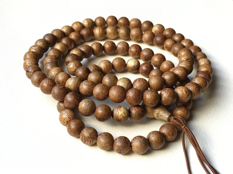 Beads SOLD - Vietnamese Wild Agarwood Mala 108 9mm