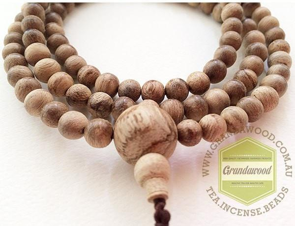 Beads SOLD- Wild Agarwood Natural prayer 108 mala beads fromPapua New Guinea (PNG) 8mm