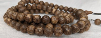 The Wiseman , Wisdom From The Elders, 108 mala made from Wild Agarwood from a small village