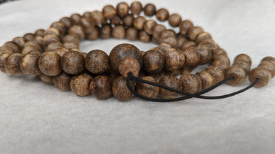 The Wiseman , Wisdom From The Elders, 108 mala made from Wild Agarwood from a small village - Grandawood- Agarwood Australia