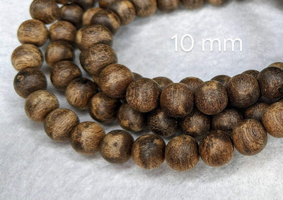Beads The Wiseman , 108 mala made from Wild Agarwood from a small village