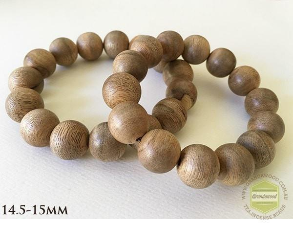 Beads 14.5-15mm Vietnamese Cultivated Agarwood Bracelet bead size 15 mm-19 mm
