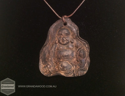 Beads ZZ-SOLD OUT-ZZ-- Agarwood Happy Budda Pendant