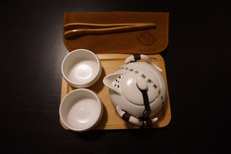 Contemporary Kungfu (Gong fu) teapot set available white or black