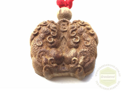 decor Agarwood key fob- Pair of Pi Yao (Pi Xiu)  Mythical Winged Lion