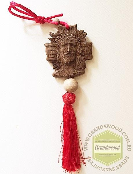 Car Decor Hanger Jesus head - Grandawood- Agarwood Australia