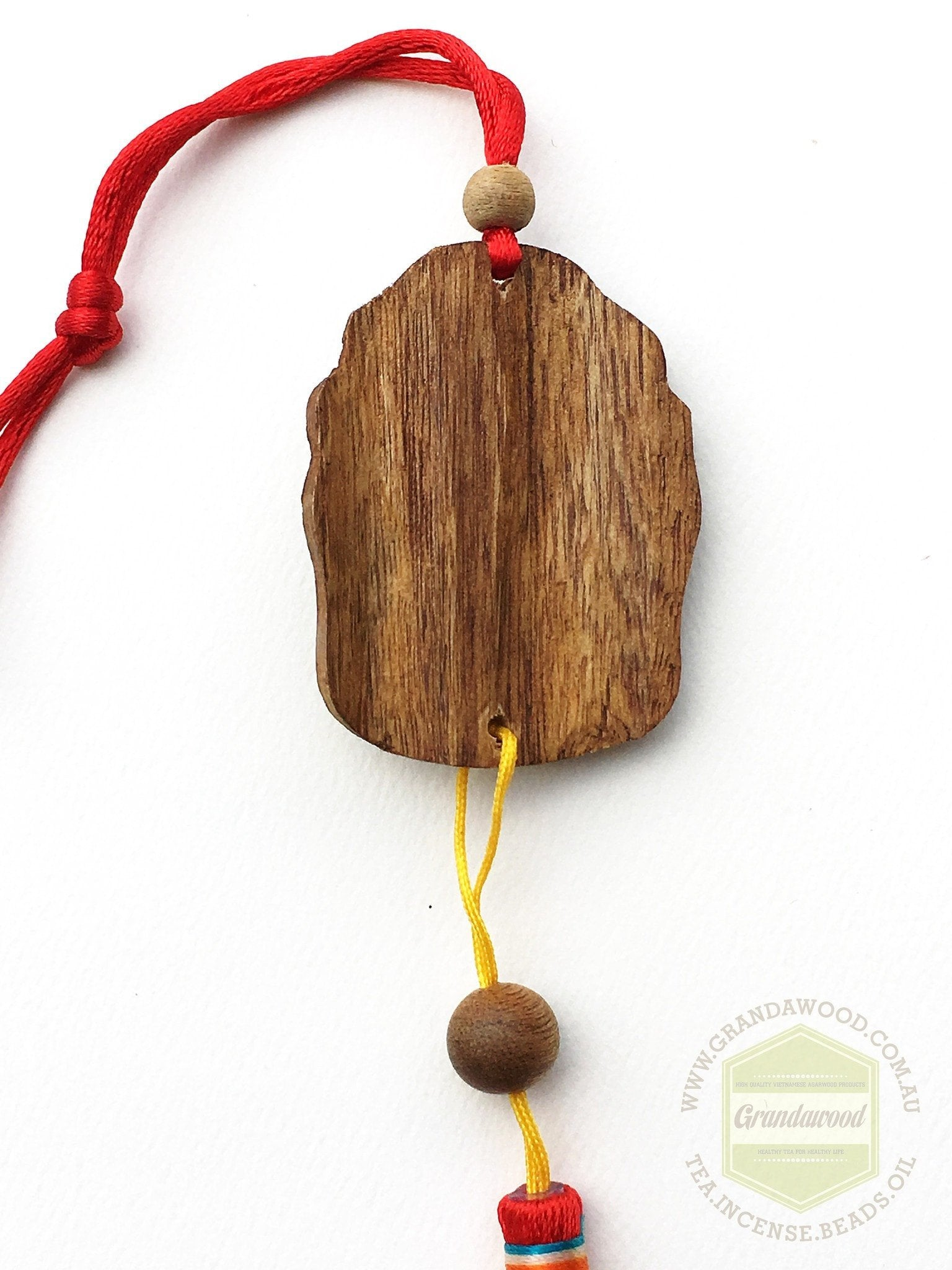 *SOLD* Cultivated Agarwood Car Hanger- Buddha Head - Grandawood- Agarwood Australia