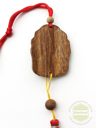 decor Cultivated Agarwood Car Hanger- Buddha Head
