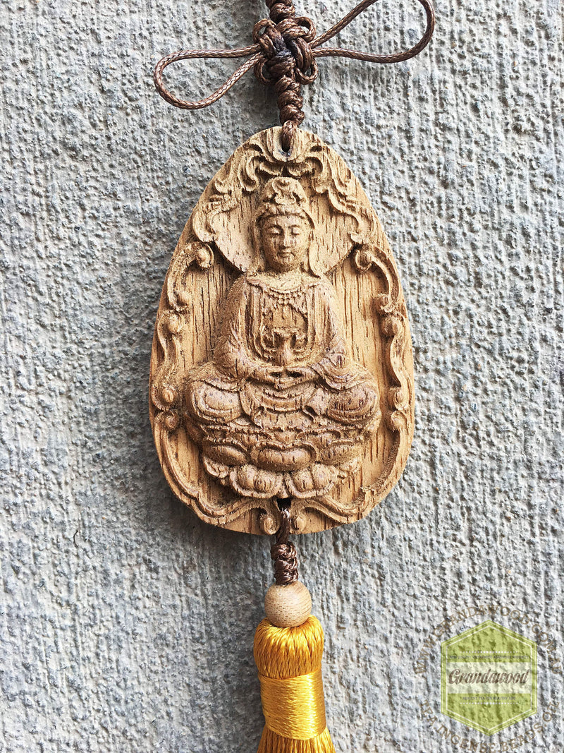 decor Gold Guan yin Car Decor Hanger