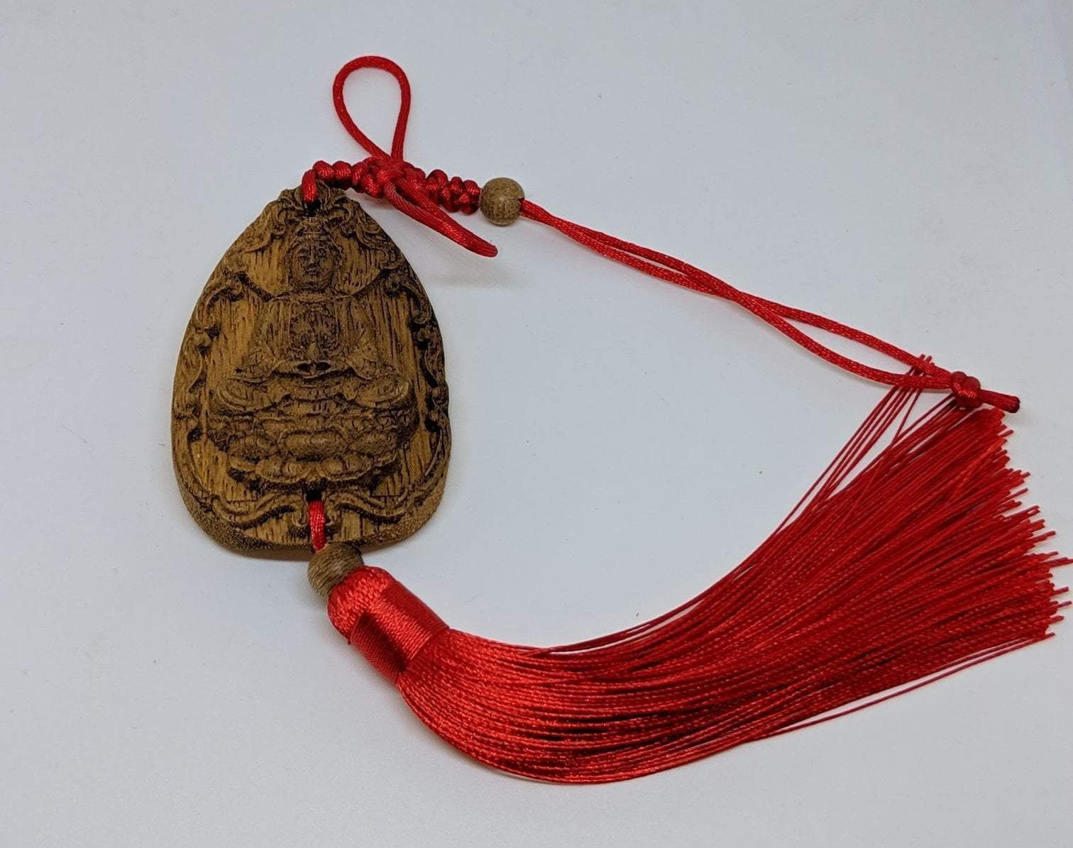 decor Guan Yin Cultivated Agarwood Key Hanger Charm Guan Yin Avalokitesvara, Happy Buddha
