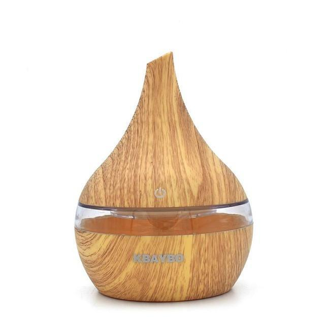 diffuser Dark Wood 300ml Ultrasonic Aroma Diffuser USB Essential oil Aromatherapy