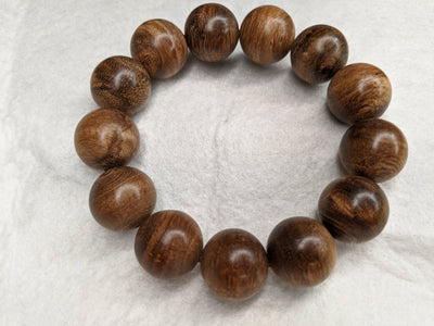 Double Dragon SL Wild Borneo Agarwood Bracelet 13 beads 18mm 29g - Grandawood- Agarwood Australia