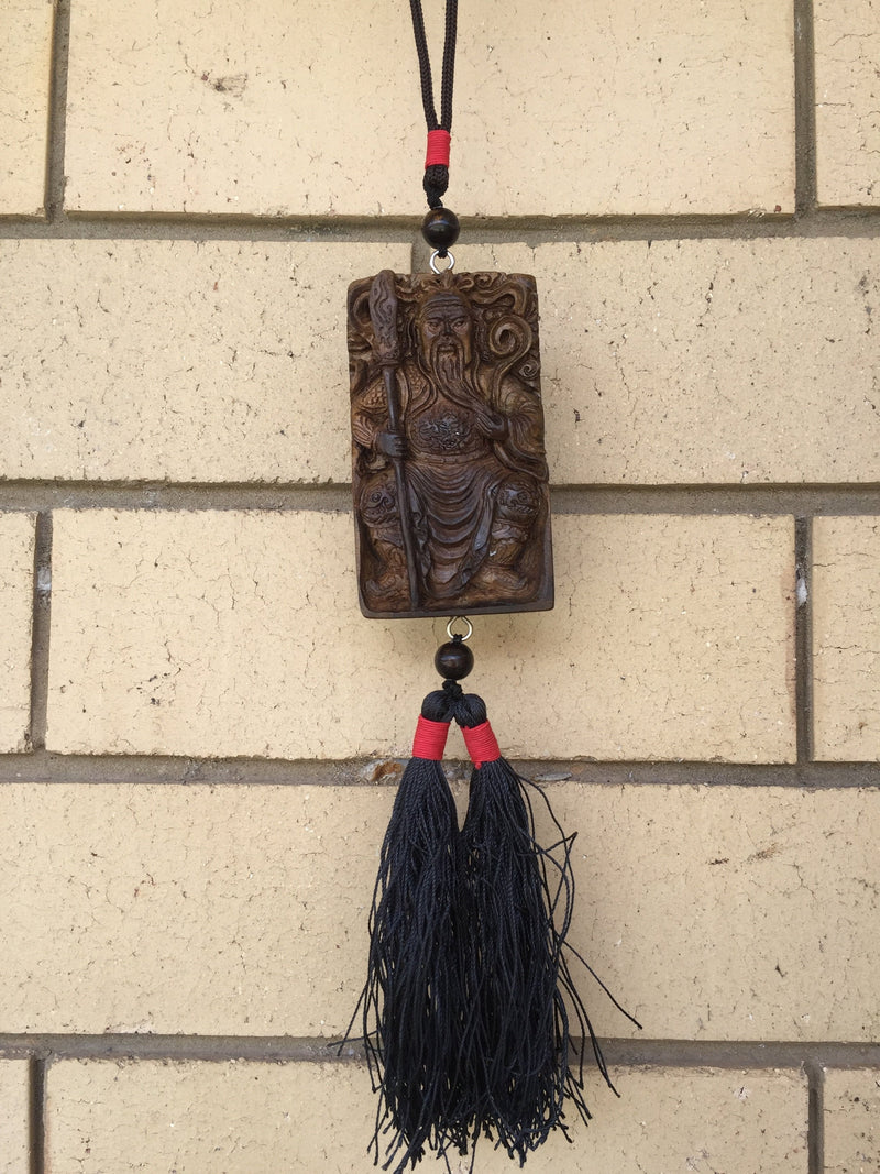 Guan Yu God of War Car hanger - Grandawood- Agarwood Australia