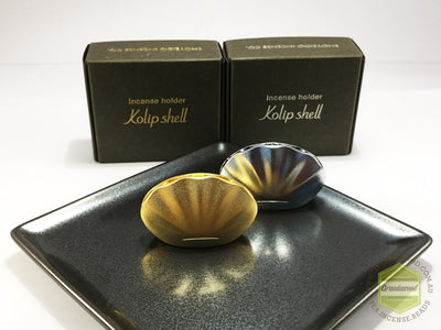 Incense Holder - Kolip Shell ( Gold/Silver) by Shoyeido