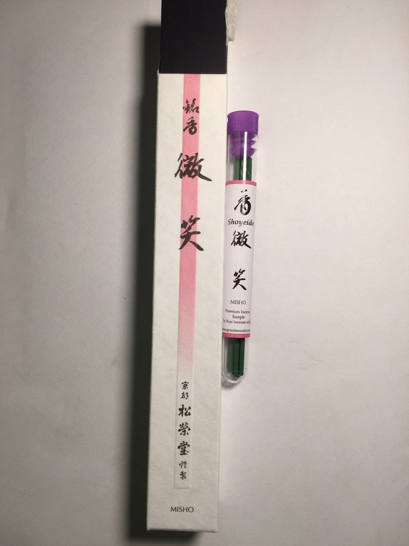 Incense Fullpackage 37 sticks of ~18 cm Shoyeido Premium Agarwood Incense: Gentle Smile Misho