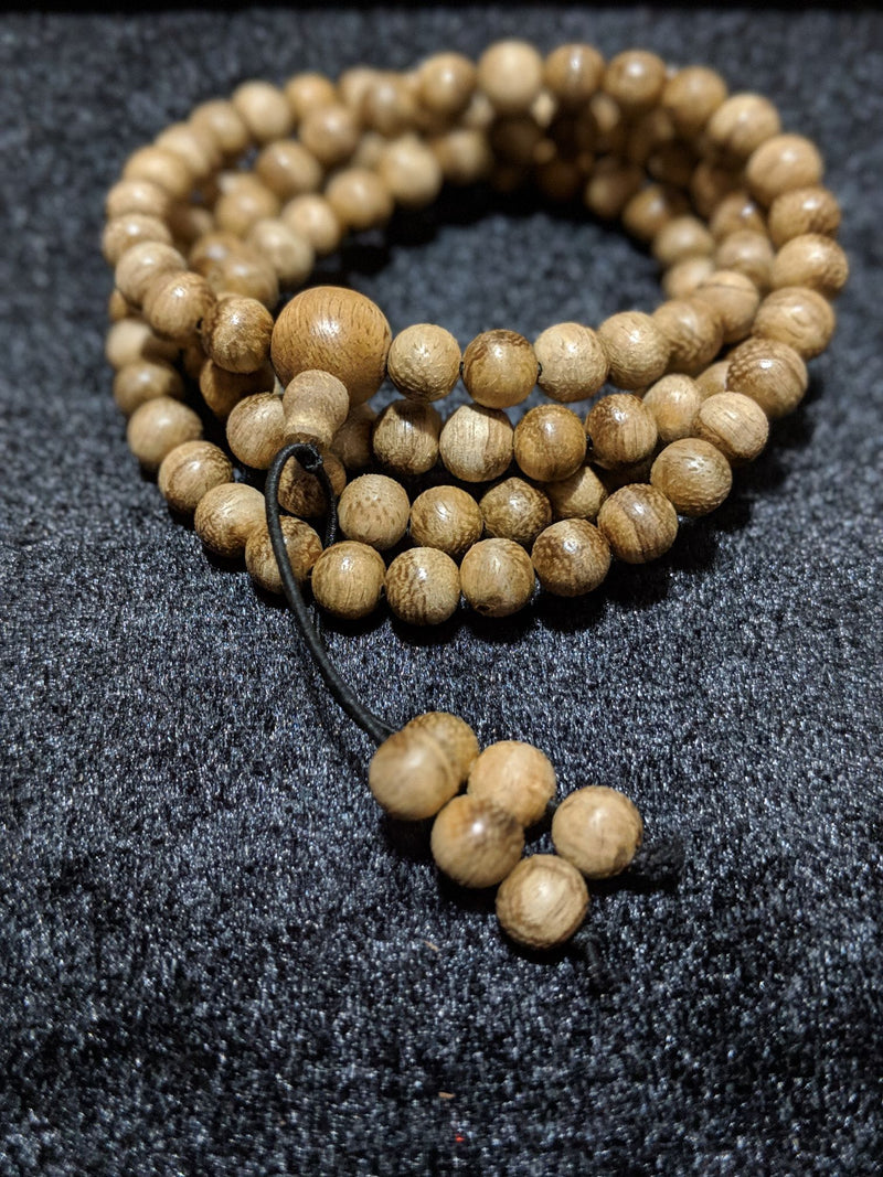 ZZ-SOLD-ZZ Entry Level: Wild Borneo Agarwood 108 mala weight above 12g with 8mm dimension - Grandawood- Agarwood Australia