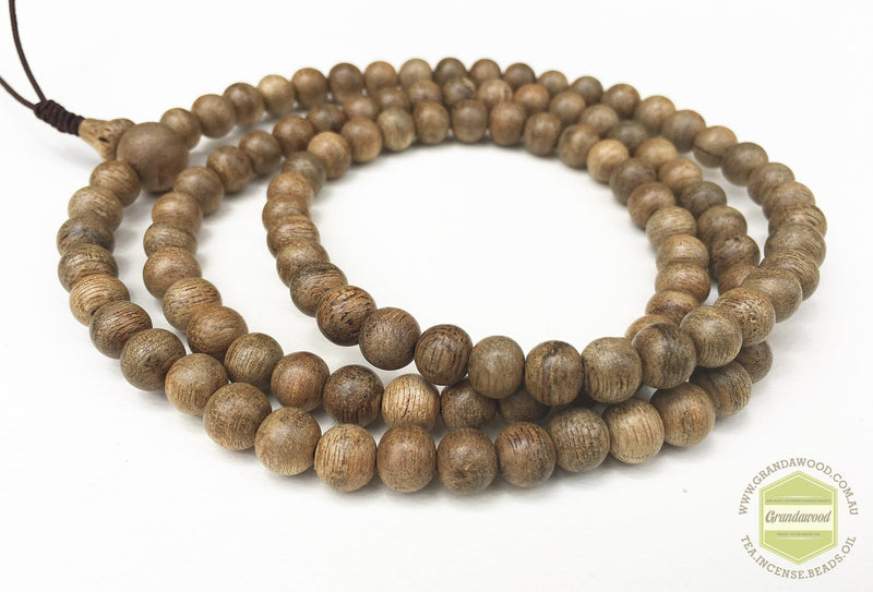 Malaysia Cultivated Agarwood Mala 108 beads 8mm - Grandawood- Agarwood Australia