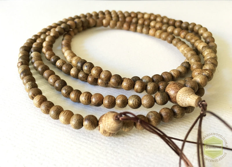 Mala beads Malaysian Cultivated Agarwood Mala 108 beads 5.5mm *NEW BATCH*