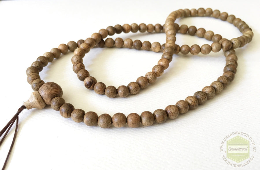 Mala beads Malaysian Cultivated Agarwood Mala 108 beads 6mm *NEW BATCH*