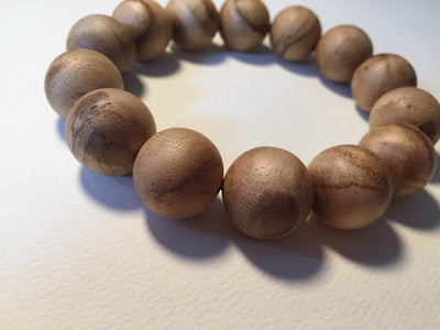 Mala beads Natural Agarwood bracelet slightly polished Indonesia