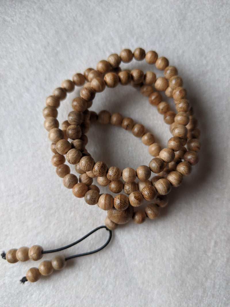 Z-SOLD OUT-Z 6mm Young wild agarwood mala 108 5g from Papua New Guinea - Grandawood- Agarwood Australia