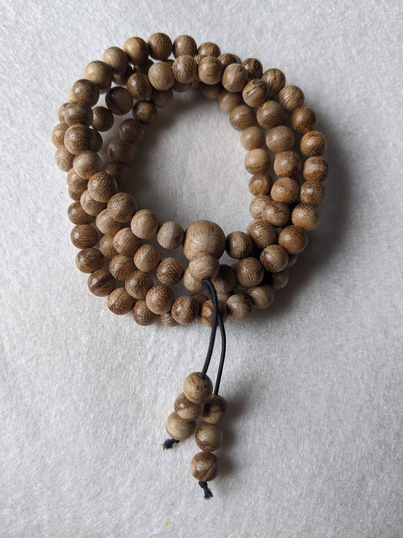 New Entry Level: 11g Wild Borneo Agarwood 108 mala with 7mm dimension - Grandawood- Agarwood Australia