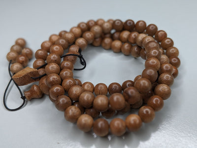 *New* The Contentment 2 Wild Borneo Agarwood mala 114 beads (108 + 6) - 19g, 8mm - Grandawood- Agarwood Australia