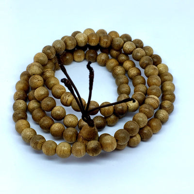 *NEW * Vietnamese Cultivated Agarwood Mala 108 beads 8mm - Grandawood