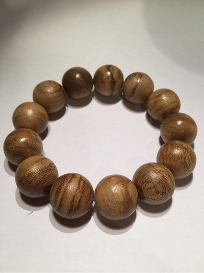 Mala beads SOLD- Agarwood natural prayer bracelet 13 beads young-Indonesia 沉香 sn002