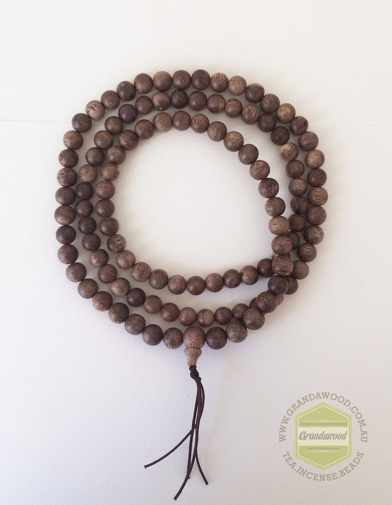 Mala beads SOLD- Vietnamese Wild Agarwood mala necklace 108 beads buddhist prayer beads