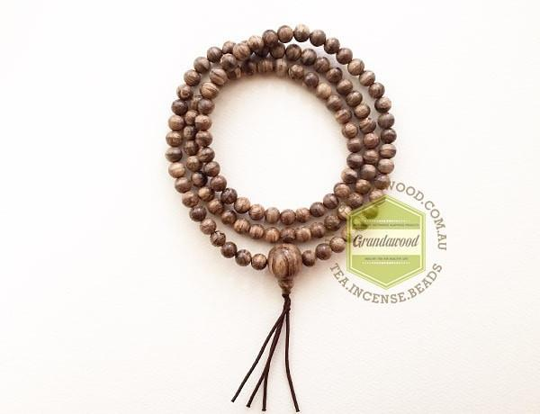 Mala beads SOLD- Wild 108 Agarwood Borneo (Kalimantan) Indonesia prayer mala 108 beads