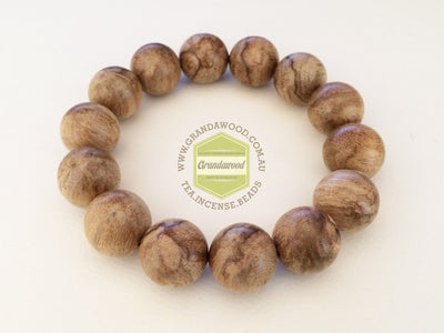 Mala beads SOLD- Wild Natural Indonesia Agarwood Bracelet (pattern A)