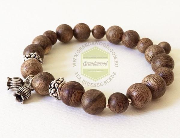 Malaysia Bracelet - Agarwood and silver  high quality- Lily of the valley