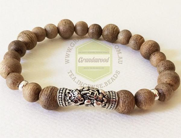 Malaysian Bracelet- Agarwood and silver bracelet high quality- Imperial Guardian Lion