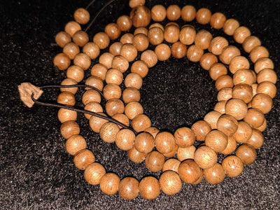 *New* The Contentment Wild Borneo Agarwood Mala 8mm 20g 108 beads plus 6 extras and 1 piece of material