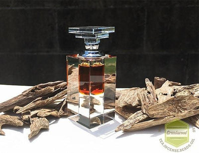Oil 3ml Crystal Bottle 100% Pure Agarwood Oil- Scasa Saat, Wild Cambodian Oud Oil