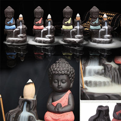 Stick and backflow Buddha Incense  Holder